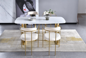 Bahrain dining set with Ivory gold dining chairs(Testing)