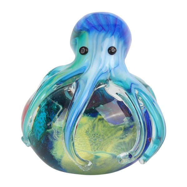 Objets d'Art Glass Figurine - Blue Octopus