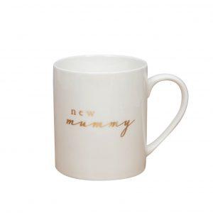Bambino Porcelain and Gold Foil Mug - New Mummy
