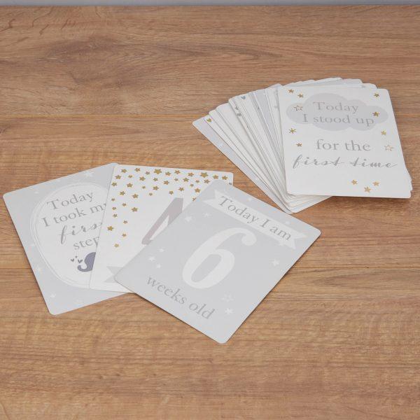 Bambino Little Star Baby Milestones Cards