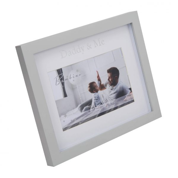 """6"""" x 4"""" - Bambino Daddy & Me Frame in Lidded Gift Box"""