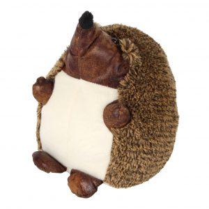 HESTIA Faux Leather Hedgehog Door Stop