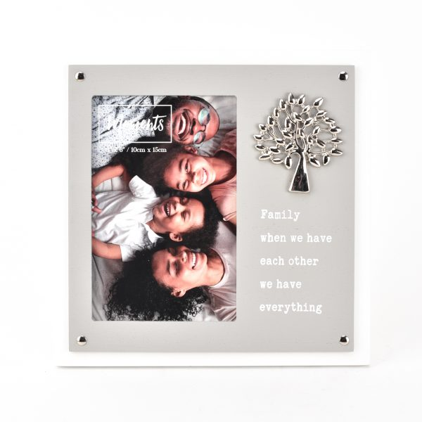 """Moments Wooden 2 Layer Tree Frame 4"""" x 6"""" - Family"""