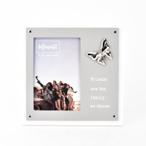 """Moments Wooden 2 Layer Butterfly Frame 4"""" x 6"""" - Friends"""