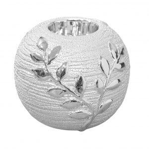 HESTIA Silver Tree Ceramic Tealight Holder **MULTI 2**