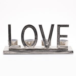 Metal 'Love' Tealight Holder 31cm