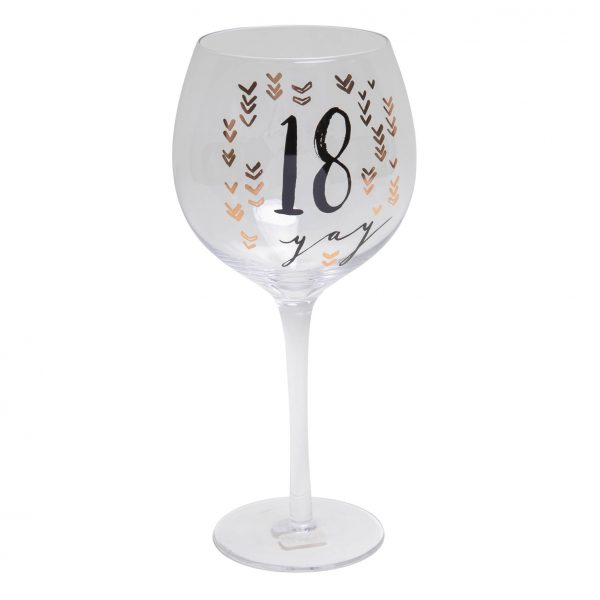 Luxe Birthday Gin Glass with Rose Gold Foil - 18