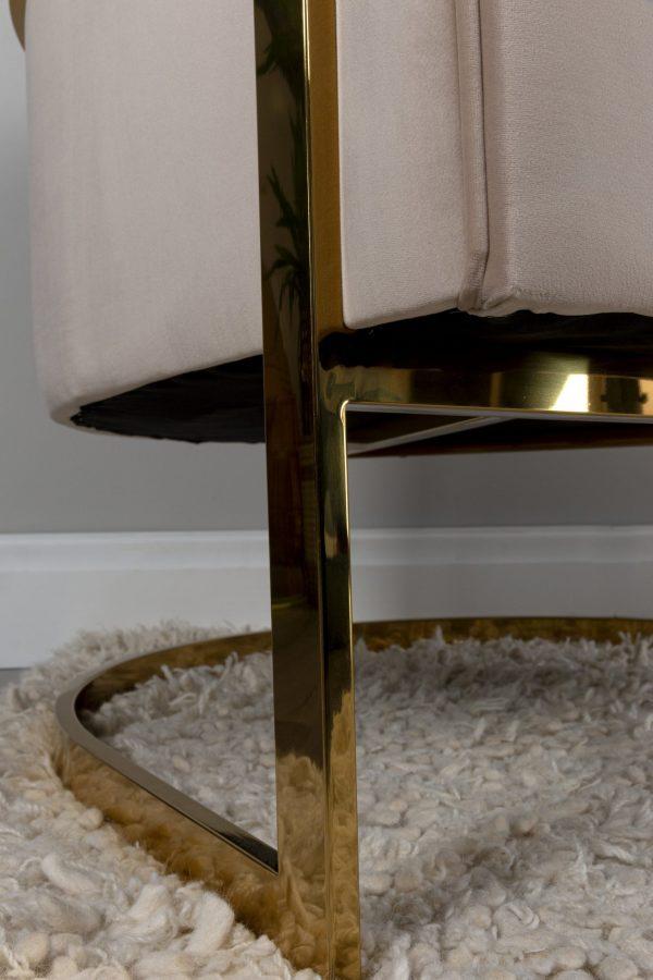 Mocha Modern Gold occasional chair bucket fluted chair