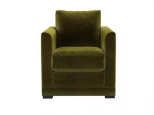 Aissa Armchair in Olive Cotton Matt Velvet