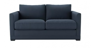 Aissa 2 Seat Sofa in Midnight Blue Brushed Linen Cotton