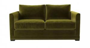 Aissa 2 Seat Sofa in Olive Cotton Matt Velvet