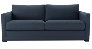 Aissa 3 Seat Sofa in Midnight Blue Brushed Linen Cotton