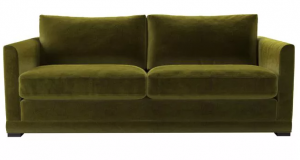 Aissa 3 Seat Sofa in Olive Cotton Matt Velvet