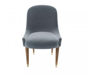 Arabella Dining Chair in Windemere Cotton Matt Velvet