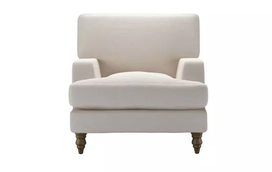Isla Armchair in Taupe Brushed Linen Cotton