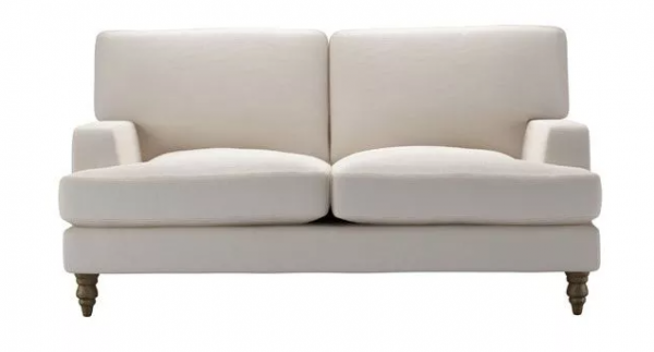 Isla 2 Seat Sofa in Taupe Brushed Linen Cotton