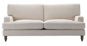 Isla 3 Seat Sofa in Taupe Brushed Linen Cotton