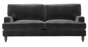 Isla 3 Seat Sofa in Armour Smart Velvet
