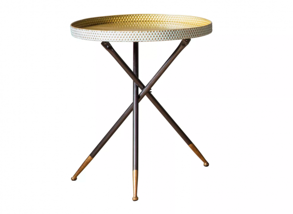 Granger Side Table with Duck Egg and Gold Top