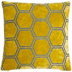 Malini Large Ivor Mustard Cushion