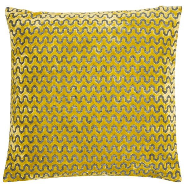 Malini Large Oslo Mustard Cushion