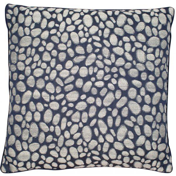 Malini Large Pebbles Navy Cushion